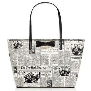 Kate Spade New York Times newspaper bow rare bag